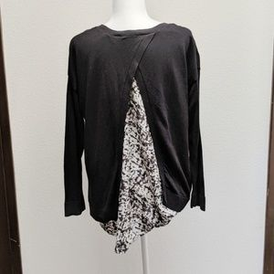 Apt 9 Pullover Sweater Layered Look Blouse